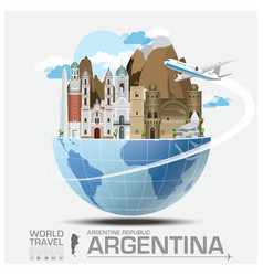 Argentina landmark global travel and journey vector