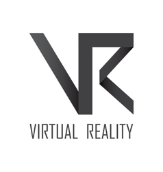 Virtual reality logotype vector