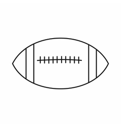 Rugby ball icon outline style vector