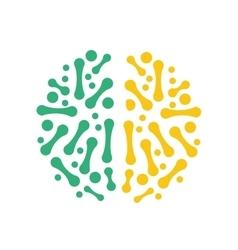 Brain icon Human head design graphic vector image
