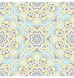 Abstract floral geometric mosaic vector