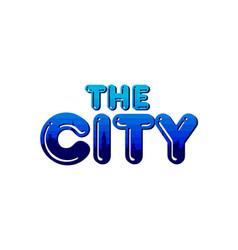 Big city real estate realty logo template vector