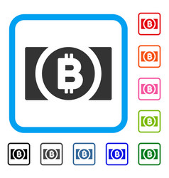 bitcoin cash framed icon vector image vector image