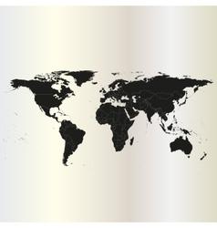 Black Political World Map vector image vector image