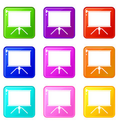 Blank projection screen set 9 vector