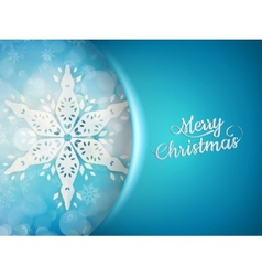 Blue xmas background with snowflakes EPS 10 vector image vector image