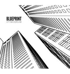 Building wireframe 3d render city vector image vector image