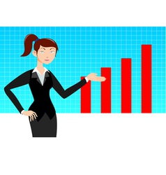 Business woman with graph vector image