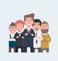 businessman doing different gestures character vector image