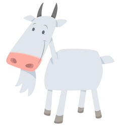 Cartoon goat farm animal vector