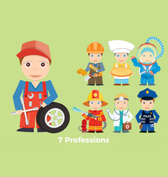 childrens people profession young children are vector image vector image