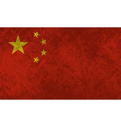 Chinese Flag Grunge vector image