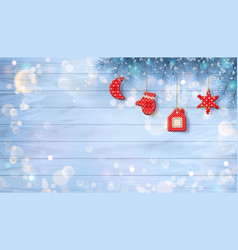 christmas background with ornaments vector image vector image