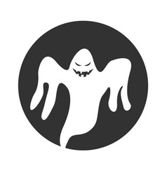 circle evil ghost vector image