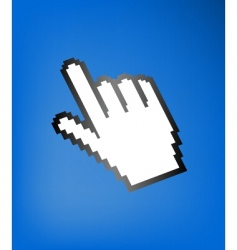 computer hand cursor vector image