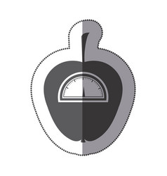 contour apple weight scale icon vector image