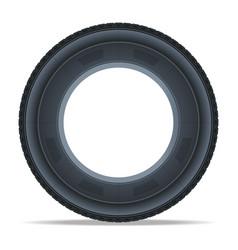 Detailed auto tire icon vector