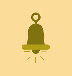 Flat icon on background bell ringer vector