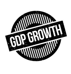 Gdp growth rubber stamp vector