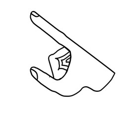 hand icon vector image