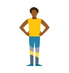 Healthy built strong sport man silhouette vector image