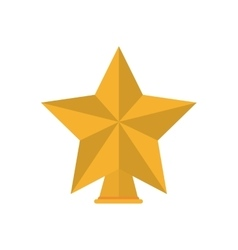 Isolated gold star of Christmas season design vector image
