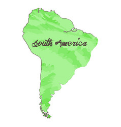isolated map of south america vector image vector image