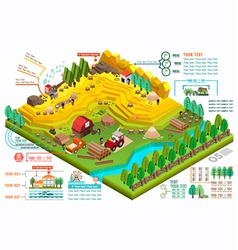 Isometric for ecological and a timber industry vector image vector image