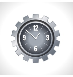 Metal gear clock vector image