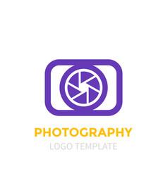 Photography logo template vector