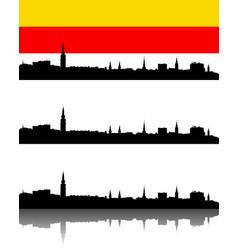 silhouette of klagenfurt austria vector image vector image