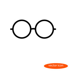 simple linear image of glasses line icon vector image vector image
