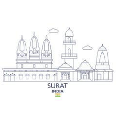 Surat city skyline vector