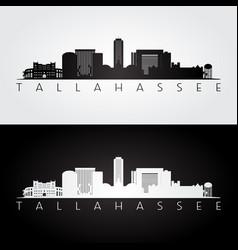 Tallahassee usa skyline and landmarks silhouette vector