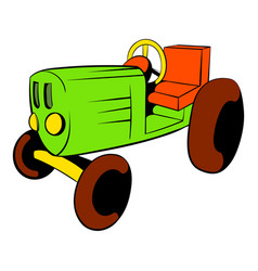 tractor icon cartoon vector image vector image