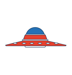ufo saucer spaceship vehicle object icon vector image vector image