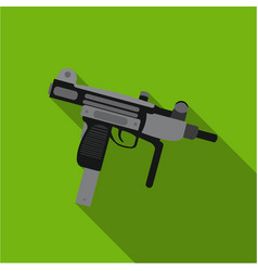 Uzi weapon icon flate single weapon icon from the vector