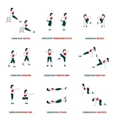 Aerobic and workout icons vector