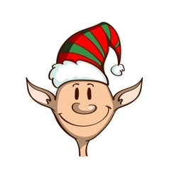 Cartoon funny christmas elf vector