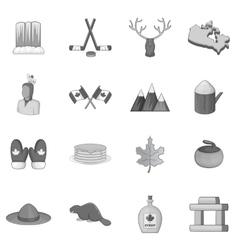 Canada icons set monochrome style vector image