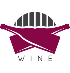 abstract icon design template of wine bottles vector image
