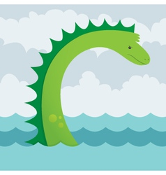 Sea serpent vector