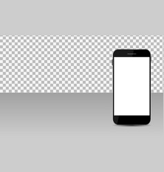 realistic mobile phone with abstract wallpaper on vector image