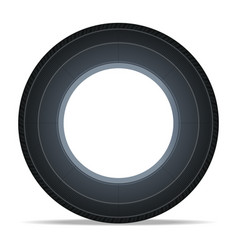 side view vehicle tire icon vector image
