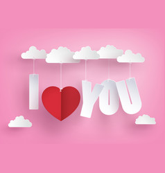 Concept of love and valentine daymessage hang on vector