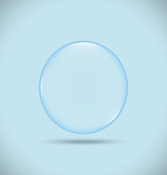Blue bubble vector