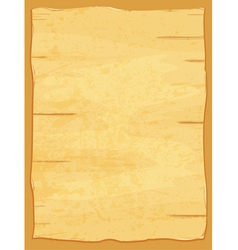 Yellow crumpled papyrus paper old sheet vector