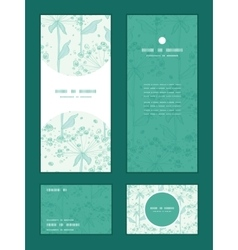 Summer line art dandelions vertical frame vector