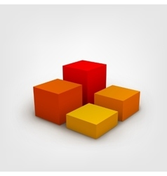 Composition with 3d cubes vector