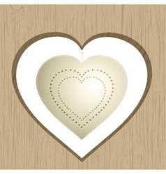 vintage valentine heart vector image